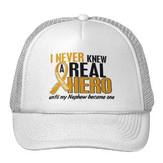 Nunca conocía a un cáncer del apéndice del sobrino gorros bordados