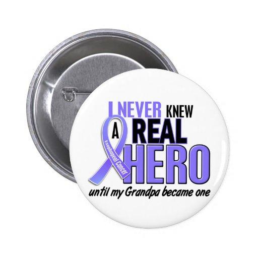 Nunca conocía a un cáncer del esófago del abuelo d pin redondo de 2 pulgadas
