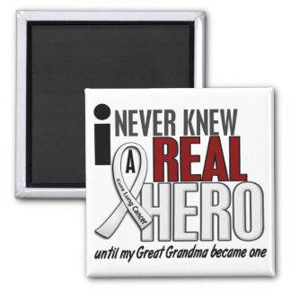 Nunca conocía a un gran cáncer de pulmón de la imán cuadrado
