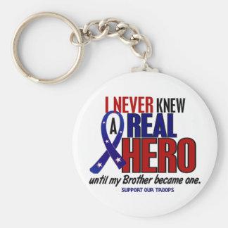 Nunca conocía a un héroe 2 Brother (apoye a nuestr Llavero Redondo Tipo Pin
