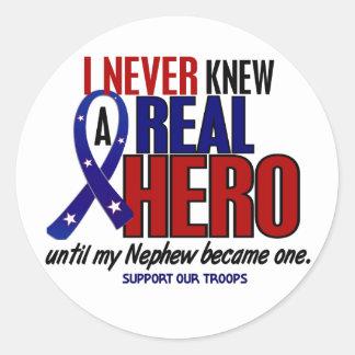Nunca conocía a un sobrino del héroe 2 (apoye a pegatina redonda