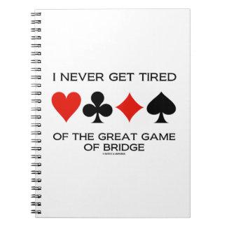 Nunca consigo cansado del gran juego del puente libros de apuntes