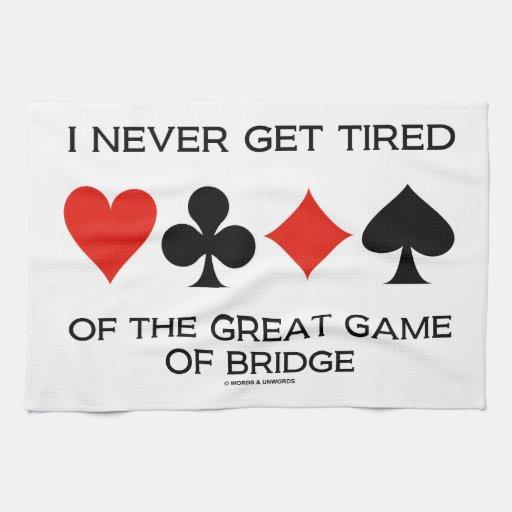 Nunca consigo cansado del gran juego del puente toalla de cocina