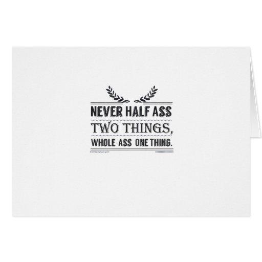 Nunca cosas del Mitad-Asno dos, cosa del Entero-As Felicitaciones