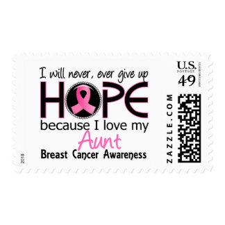 Nunca dará para arriba al cáncer de la tía pecho sello