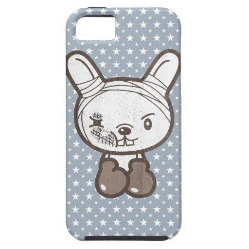 Nunca dé el conejo PARA ARRIBA que lucha iPhone 5 Case-Mate Cobertura