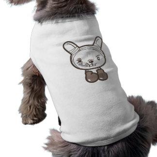 Nunca dé el conejo PARA ARRIBA que lucha Camiseta De Mascota