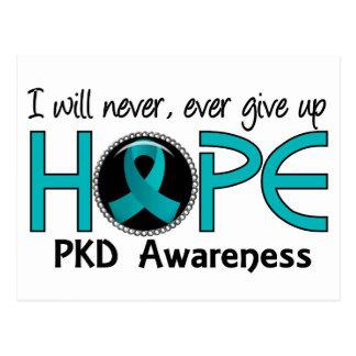 Nunca dé para arriba a esperanza 5 PKD Tarjeta Postal