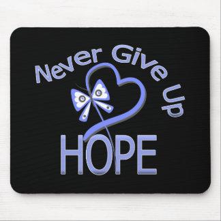 Nunca dé para arriba a esperanza el cáncer del esó alfombrillas de ratones