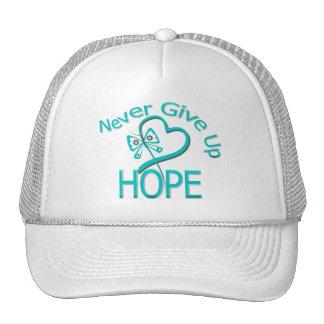 Nunca dé para arriba a esperanza el cáncer ovárico gorro