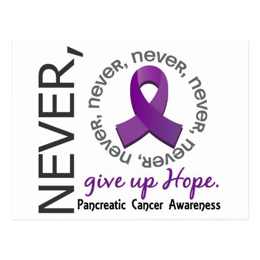 Nunca dé para arriba a esperanza el cáncer tarjetas postales