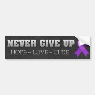 Nunca dé para arriba a esperanza la conciencia del pegatina de parachoque