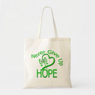Nunca dé para arriba a esperanza la lesión cerebra bolsas de mano