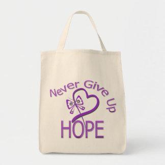 Nunca dé para arriba a esperanza la violencia en e bolsa tela para la compra
