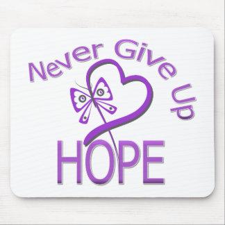 Nunca dé para arriba a esperanza la violencia en e alfombrillas de ratones