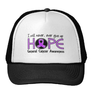 Nunca dé para arriba a general Cancer de la espera Gorros Bordados