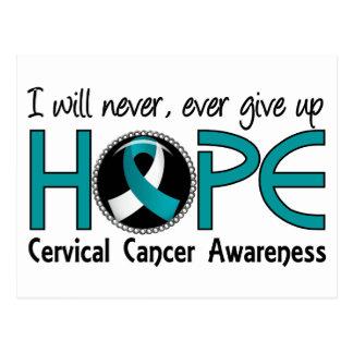 Nunca dé para arriba al cáncer de cuello del útero tarjetas postales