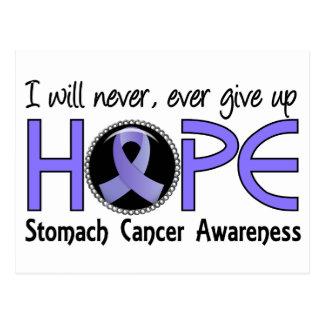 Nunca dé para arriba al cáncer de estómago de la postales