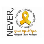 Nunca dé para arriba al cáncer de la niñez de la e tarjeta postal
