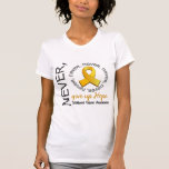 Nunca dé para arriba al cáncer de la niñez de la camiseta