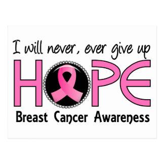 Nunca dé para arriba al cáncer de pecho de la postales