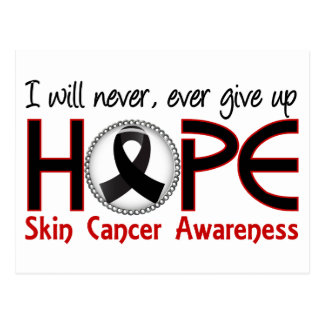 Nunca dé para arriba al cáncer de piel de la postal