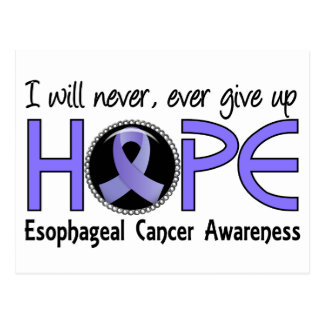 Nunca dé para arriba al cáncer del esófago de la postales