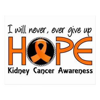 Nunca dé para arriba al cáncer del riñón de la postales