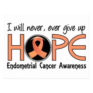 Nunca dé para arriba al cáncer endometrial de la postales