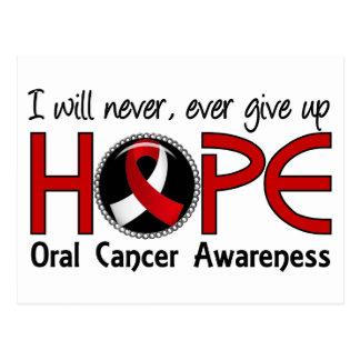 Nunca dé para arriba al cáncer oral de la postal