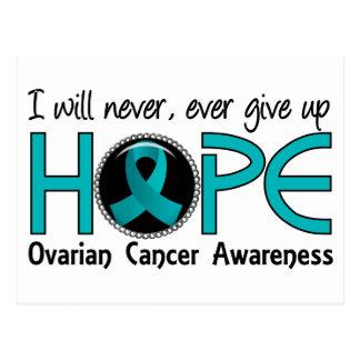 Nunca dé para arriba al cáncer ovárico de la tarjetas postales
