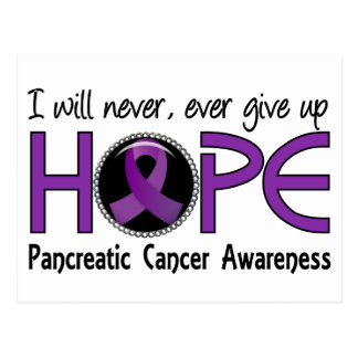 Nunca dé para arriba al cáncer pancreático de la tarjeta postal
