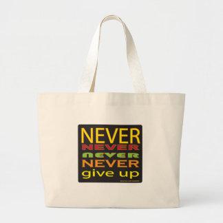 nunca dé para arriba bolsa de mano