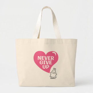 ¡Nunca dé para arriba! Bolsas De Mano