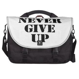 Nunca dé para arriba bolsa para ordenador