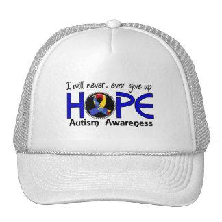 Nunca dé para arriba el autismo de la esperanza 5 gorras