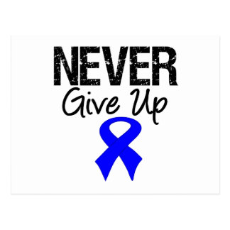 Nunca dé para arriba (el cáncer de colon) postales