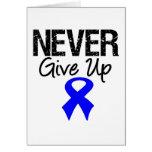 Nunca dé para arriba (el cáncer de colon) tarjetas