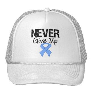Nunca dé para arriba el cáncer de próstata gorro de camionero