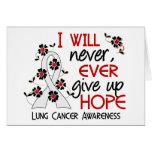 Nunca dé para arriba el cáncer de pulmón de la esp tarjeta