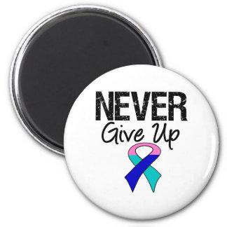 Nunca dé para arriba (el cáncer de tiroides) iman de nevera