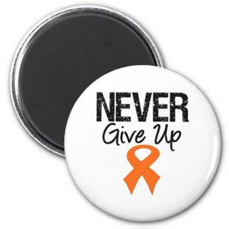 Nunca dé para arriba (el cáncer del riñón) imán redondo 5 cm