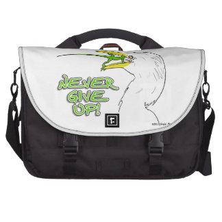 Nunca dé para arriba el lagarto bolsas de ordenador