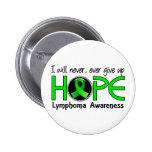 Nunca dé para arriba el linfoma de la esperanza 5 pins