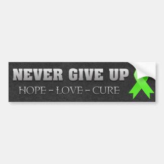 Nunca dé para arriba el linfoma de Non-Hodgkins de Pegatina Para Auto