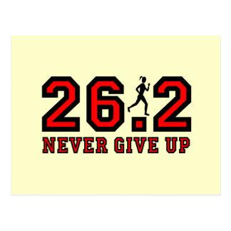 Nunca dé para arriba el maratón postal