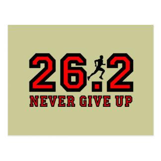 Nunca dé para arriba el maratón postales