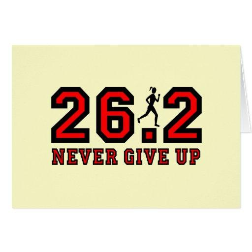 Nunca dé para arriba el maratón felicitacion
