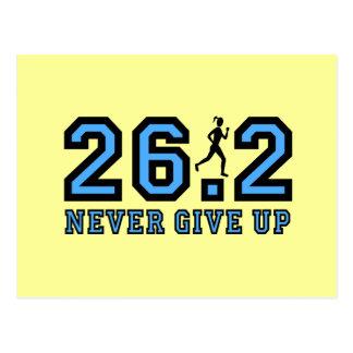Nunca dé para arriba el maratón tarjeta postal