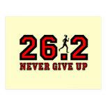 Nunca dé para arriba el maratón tarjetas postales
